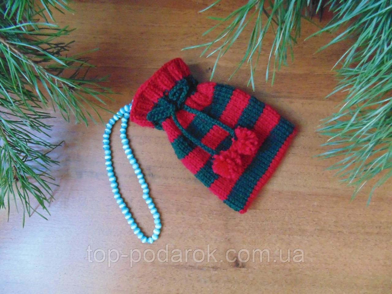 Аксесуар для новорічного подарунка,чохол для подарунка,мішечок для подарунка