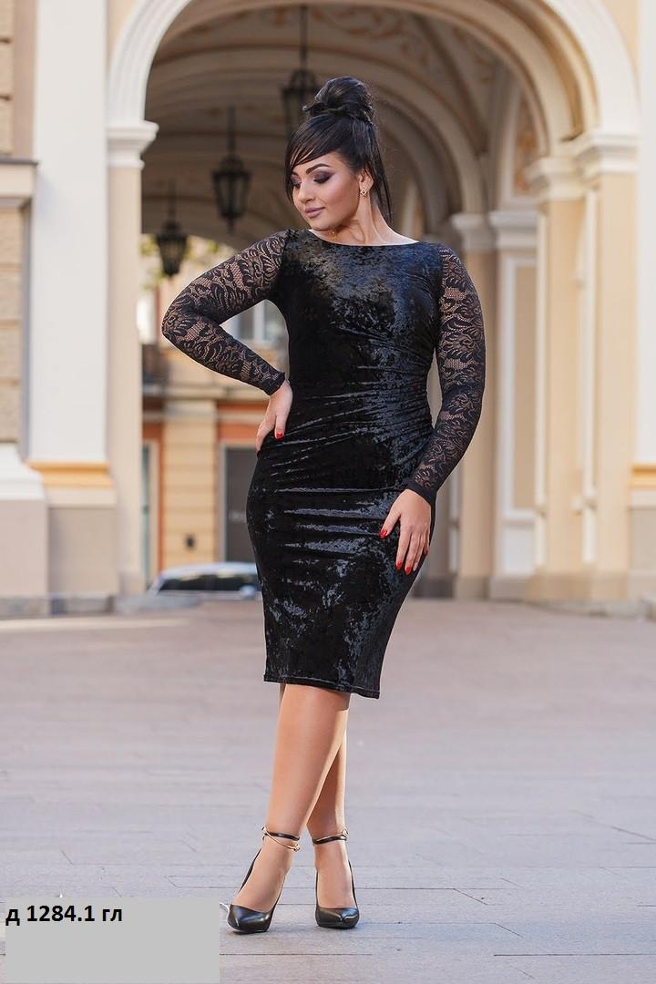 Женское платье с гипюром д 1284.1 гл
