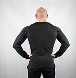 Теплый мужской свитер черного цвета, фото 3