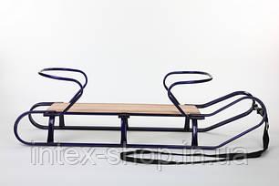 Санки для двойни ТВИНС Fijo (TWINS) (Синий), фото 2