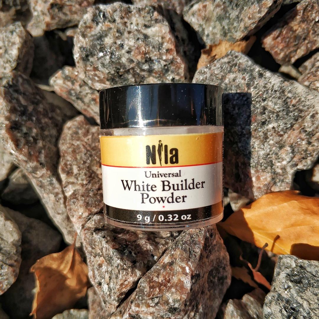 Акриловая пудра Nila builder белая 9 грамм