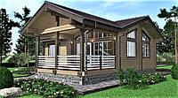 Деревянный дом из профилированного клееного бруса 10х12 м, фото 1