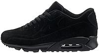 Мужские зимние кроссовки Nike Air Max 90 VT Tweed Black замшевые Найк Аир Макс 90 С МЕХОМ черные