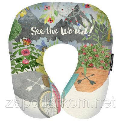 Подушка для подорожей See the world