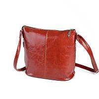 Коричневая рыжая сумка М78-94 молодежная через плечо на молнии, фото 1