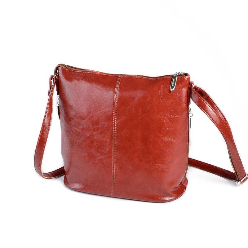 732469ba2738 Коричневая рыжая сумка М78-94 молодежная через плечо на молнии, фото 1