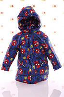 Куртка осень-весна для мальчиков  1-4 года Спайдермен, фото 1