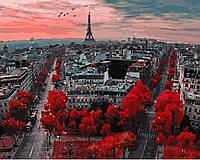 Картина по номерам. Алые краски Парижа