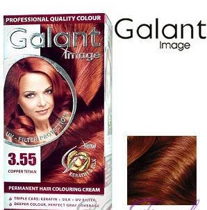 Стойкая крем-краска для волос Galant Image тон 3.55 Медный тициан