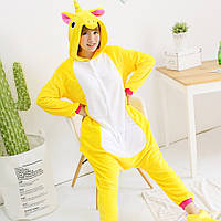 Пижама кигуруми желтый единорог krd0055 3dd760dc293c3
