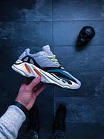 Женские кроссовки Adidas Yeezy Boost 700 Solid Grey/Chalk White топ реплика