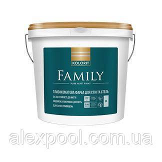KOLORIT FAMILY А 4,5 л матова латексна інтер'єрна фарба