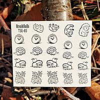 Слайдер дизайн dream nails водные наклейки для ногтей