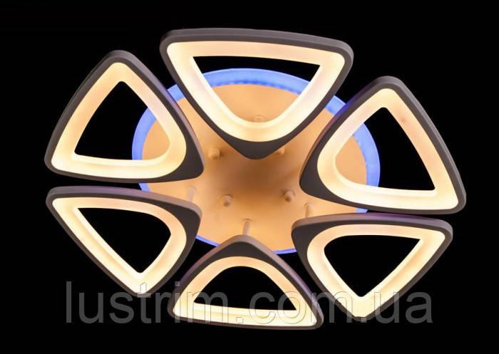 Потолочная LED-люстра с диммером и подсветкой 110W