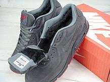 Зимові чоловічі кросівки Nike Air Max 90VT FUR Winter Dark Gray, фото 2