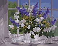 Картина по номерам Menglei MG337 Васильки и колокольчики 40 х 50 см 950 цветы