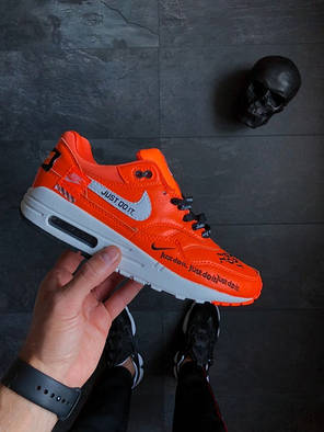 "Женские кроссовки Nike Air Max 1 SE LX ""Just Do It"" Orange топ реплика, фото 2"