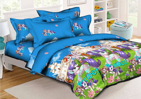 Детское постельное бельё 1.5 Ранфорс 150х215 Литл Пони 2 (Модница Рарити) HomyTex для девочек, фото 2