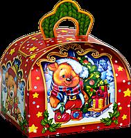 """Упаковка картонная """"Ларчик Звірята"""" для сладостей 150г"""
