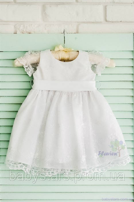 0b6aeff0fe4 Праздничное платье для девочки белого цвета