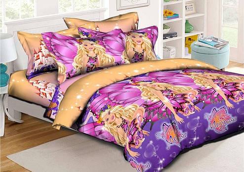Детское постельное бельё 1.5 Ранфорс 150х215 Марипоса НоmyTex для девочек, фото 2