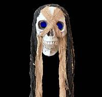 """Подвесная декорация скелет """"Череп с голубыми глазами"""" Хэллоуин. голова, декор"""