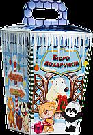 """Упаковка новогодняя """"Ліхтарик Бюро подарунків"""" для сладостей 400-600 г"""