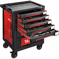 Шкаф с инструментами 95,8 х 76,6 х 46,5 см, 165 элементов, 13 лотков YATO YT-55293