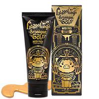 Золотая маска-пленка с пептидами Elizavecca Milky Piggy Hell-Pore Longo Longo Gronique Gold Mask Pack