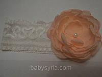 Детская повязка с цветком для девочки