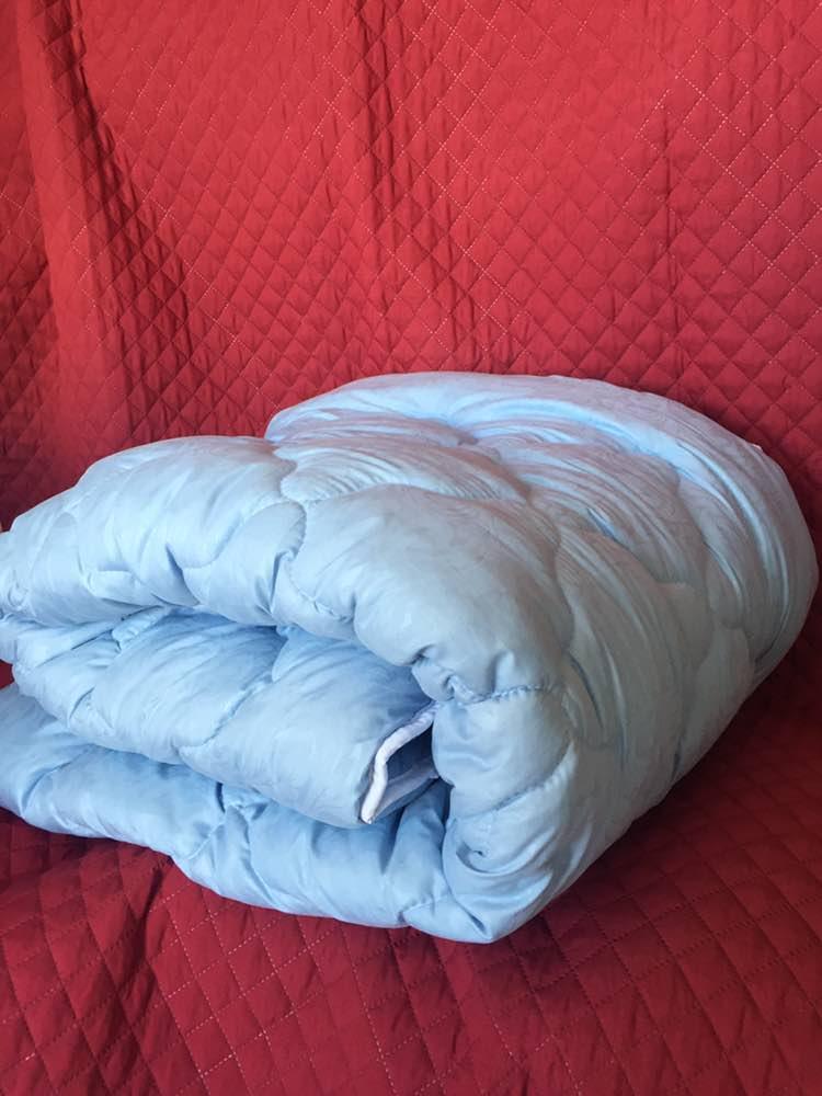 Тёплое одеяло Холлофайбер в микрофибре 175*210см. | Легкое одеяло на Холлофайбере Двухспалка