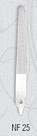 Пилочка для ногтей La Rosa металлическая лазерная 10 см NF25, фото 4