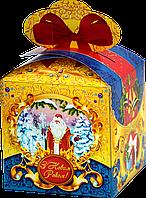 """Новогодняя Упаковка """"Бант візерунки"""" для сладостей до 700г"""