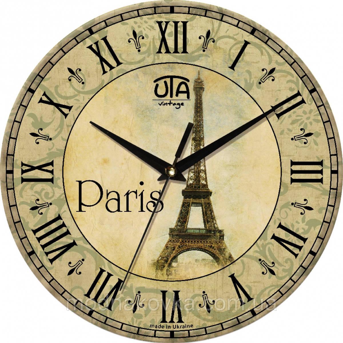 """Часы настенные """"Париж"""" круглые"""