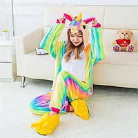 Женский разноцветный Кигуруми радужный единорог tez0024