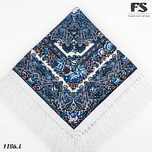 Павлопосадский белый платок Осеннее танго, фото 2