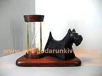 Оригинальные песочные часы со статуэткой собака Скотч-терьер