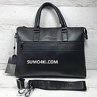 Мужской кожаный портфель Armani , фото 1