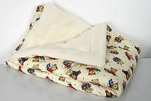 Одеяло детское шерстяное на меху