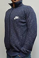 Толстовка Nike (Найк) / Остались размеры: 44,46,48 / Мужская кофта на молнии из трикотажа - темно-синяя