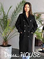 Женское кашемировое двубортное прямое пальто 502133, фото 1