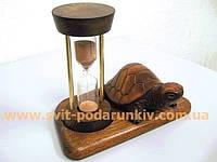 Песочные часы со скульптурой черепаха, оригинальный подарок
