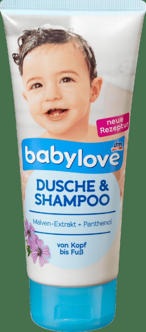 Детский гель для душа + шампунь Babylove Pantnenol Dusche & Shampoo, 200 ml