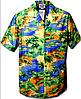 Рубашка гавайка Pacific Legend 410-3132 blue