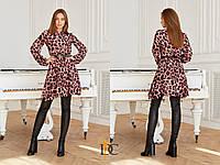 Шифоновое принтованное платье леопард 31031988, фото 1