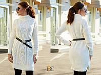 Вязаное платье с узором и высоким горлом 31031989, фото 1