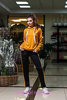 Трикотажный спортивный костюм женский с капюшоном 205492, фото 1