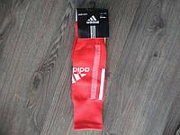 Детские гетры футбольные Adidas красные