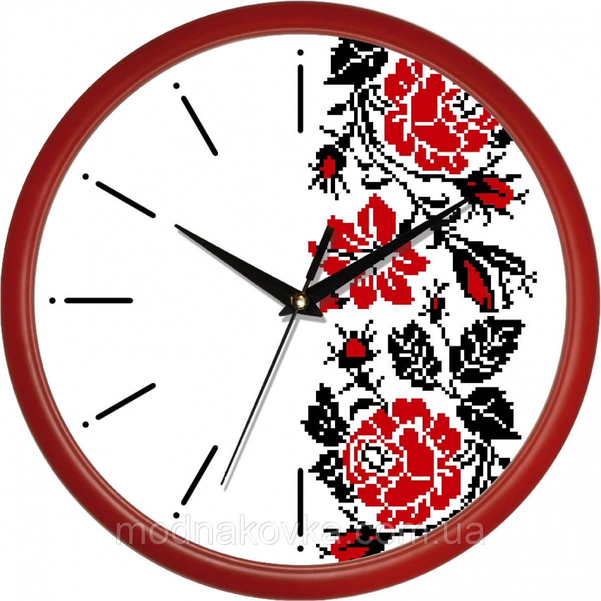 """Часы настенные """"Вышиванка"""" закрытые круглые"""