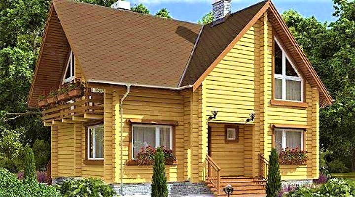 Деревянный дом из профилированного клееного бруса 10х11 м